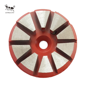 Metal Grinding Plate 10 Gears 1 hole for Concrete Triangle Gear Dry And Wet Use Coarse