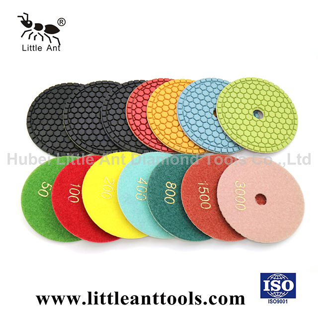 Honeycomb Diamond Polishing Pad for Wet Use Less Dust High Sharpness